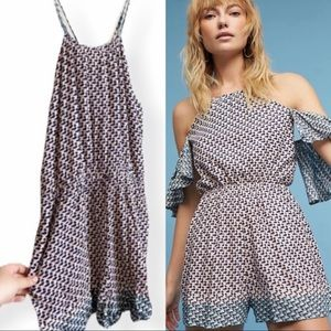 Anthropologie Elevenses Madalenna Romper
